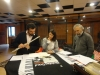 Arcadio Baracchi, Carla Magnan, Francesco Denini al lavoro per pubblicazione Suono Sonda